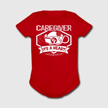 Caregiver Heart Shirt - Short Sleeve Baby Bodysuit