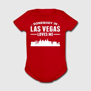 Somebody In Las Vegas Loves Me - Short Sleeve Baby Bodysuit