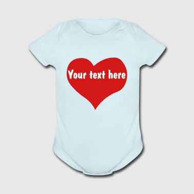 Heart - Organic Short Sleeve Baby Bodysuit