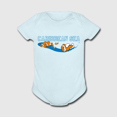 CARIBBEAN SEA - Short Sleeve Baby Bodysuit