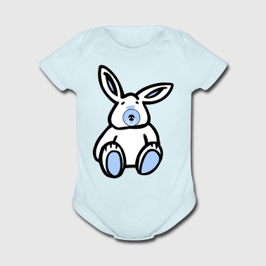 Easter Blue Baby Bunny - Short Sleeve Baby Bodysuit