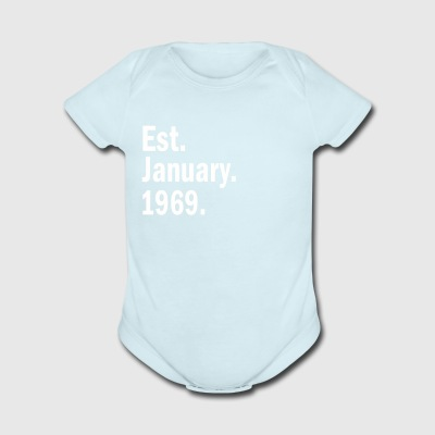 Est January 1969 - Short Sleeve Baby Bodysuit
