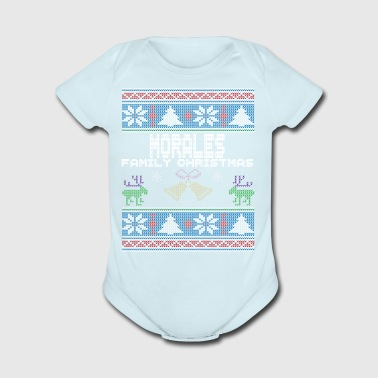 Ugly Morales Christmas Family Vacation Tshirt - Short Sleeve Baby Bodysuit