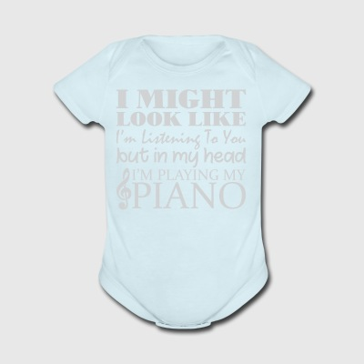 In My Head I'm Playing Piano - Short Sleeve Baby Bodysuit