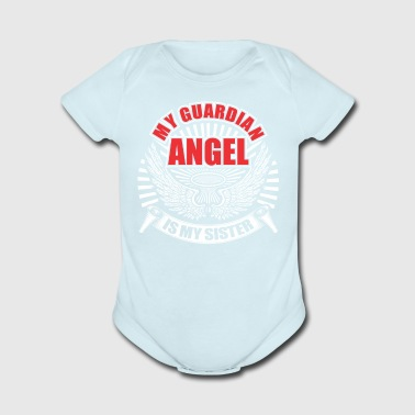My guardian angel is my sister - Short Sleeve Baby Bodysuit