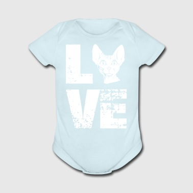 Love Sphynx shirt - Funny Cat gifts - Short Sleeve Baby Bodysuit