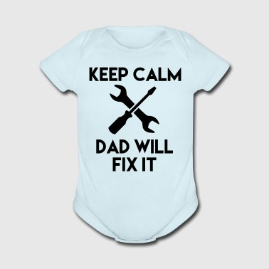 Funny Keep Calm T-Shirt gift for Daughters and Son - Organic Short Sleeve Baby Bodysuit