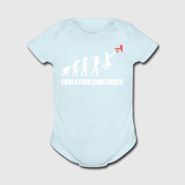 evolution continues monkey gift basketball gift - Short Sleeve Baby Bodysuit