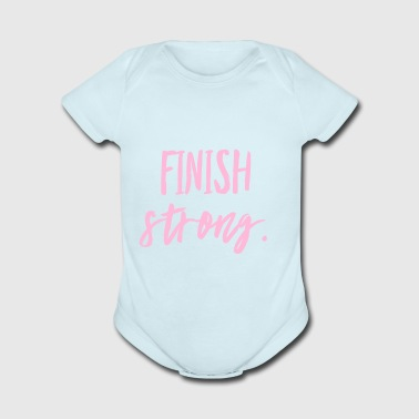 Finish Strong - Short Sleeve Baby Bodysuit