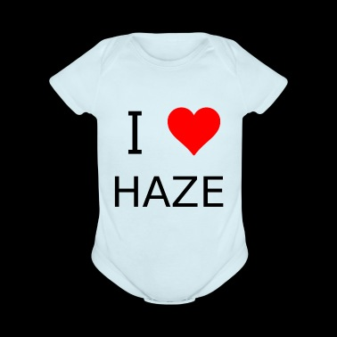 I love Haze - Short Sleeve Baby Bodysuit