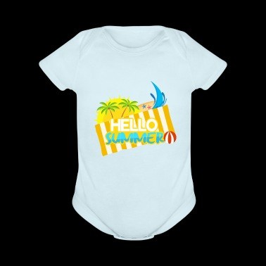 Lettering sun and beach umbrella - Short Sleeve Baby Bodysuit