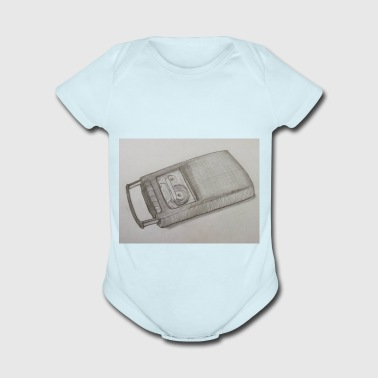 tape recorder - Short Sleeve Baby Bodysuit