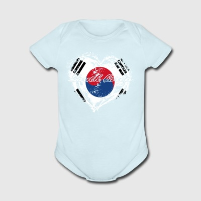 HOME ROOTS COUNTRY GIFT LOVE South korea - Short Sleeve Baby Bodysuit
