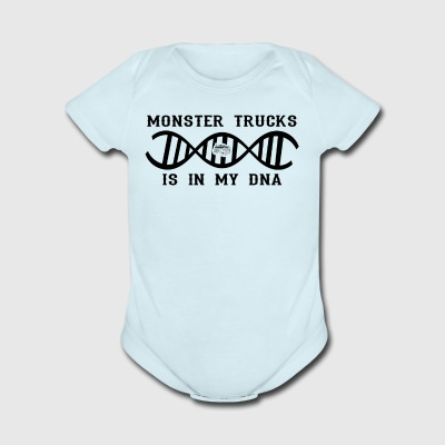 dns dna not only love calling Big Foot monster tru - Short Sleeve Baby Bodysuit