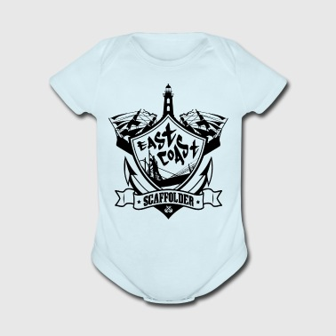 East Coast Scaffolder (Black) - Short Sleeve Baby Bodysuit