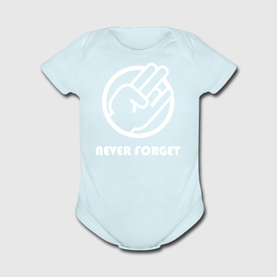 Never Forget - Short Sleeve Baby Bodysuit