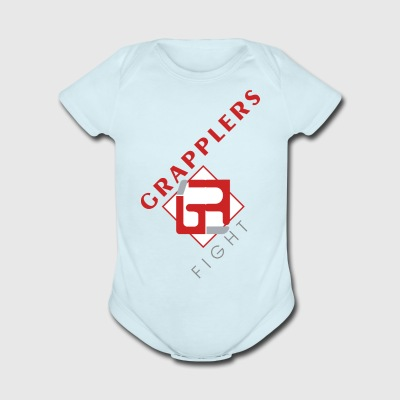 Dynamic 001 grapplersfight LOGO Front - Short Sleeve Baby Bodysuit