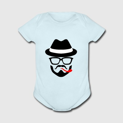 hat - Short Sleeve Baby Bodysuit