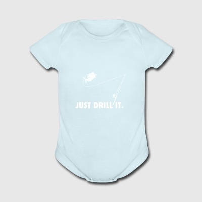 just drill it - Short Sleeve Baby Bodysuit