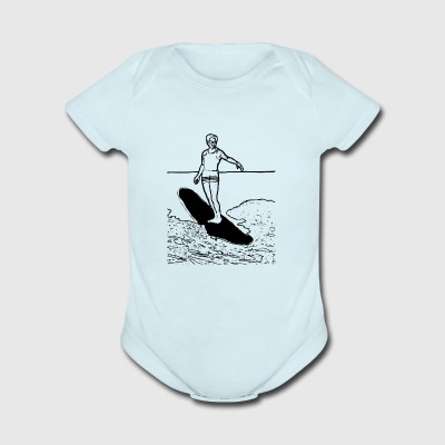 surfboard surfen surfing wind surfer1 - Short Sleeve Baby Bodysuit