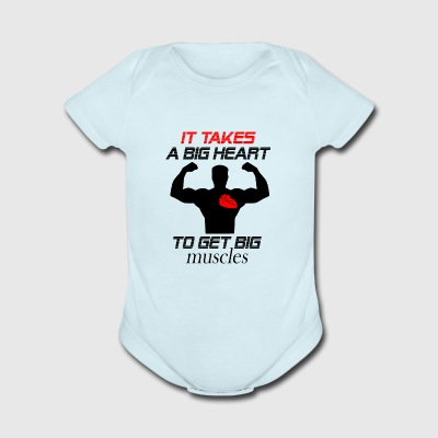it takes a big heart - Short Sleeve Baby Bodysuit