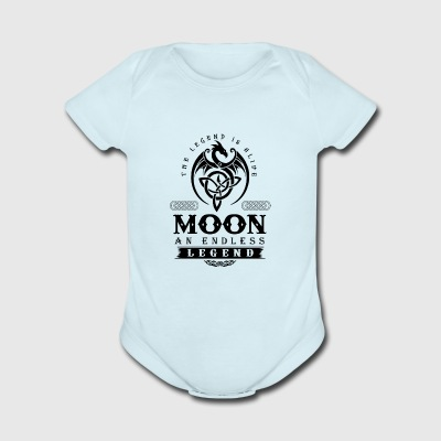 MOON - Short Sleeve Baby Bodysuit