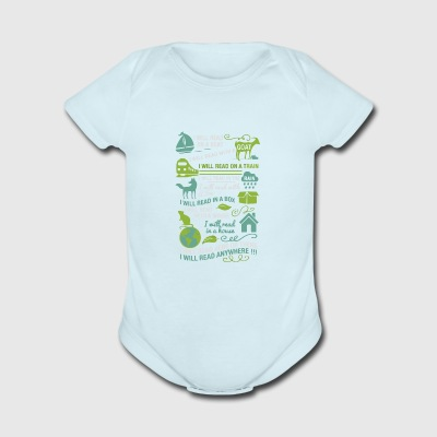 I will read anywhere - Short Sleeve Baby Bodysuit
