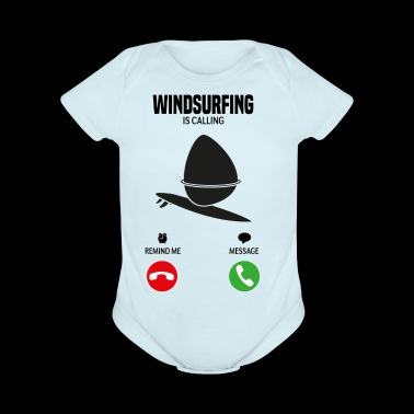 Windsurfing is calling wind shirt gift - Short Sleeve Baby Bodysuit