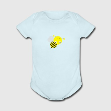 bee - Short Sleeve Baby Bodysuit