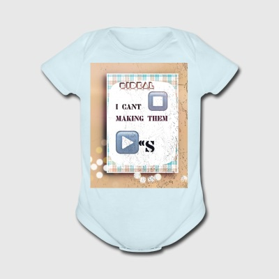 STOP_PLAYING - Short Sleeve Baby Bodysuit