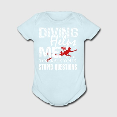 Scuba Diving Helps Me Shirt - Short Sleeve Baby Bodysuit