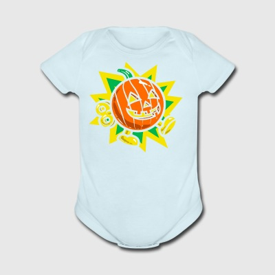 Pumpkin Bomb - Short Sleeve Baby Bodysuit