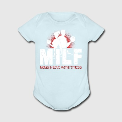 Mom In Love With Fitness Shirt - Short Sleeve Baby Bodysuit