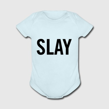 Slay Black - Short Sleeve Baby Bodysuit