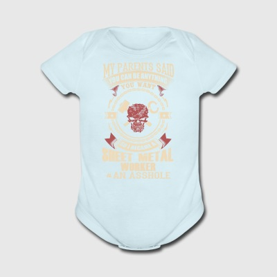 I Became A Sheet Metal Worker - Short Sleeve Baby Bodysuit