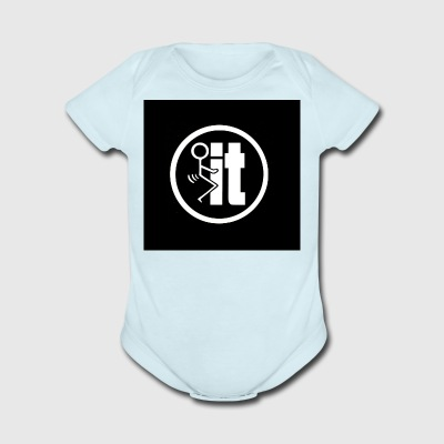 fuck it round tshirt - Short Sleeve Baby Bodysuit