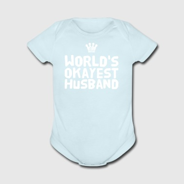 world's okayest husband - Short Sleeve Baby Bodysuit