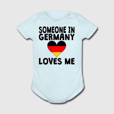 Someone In Germany Loves Me - Short Sleeve Baby Bodysuit