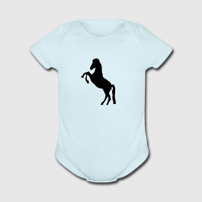 horsedesign - Short Sleeve Baby Bodysuit