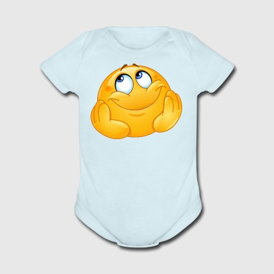 Dreamy emoticon - Short Sleeve Baby Bodysuit