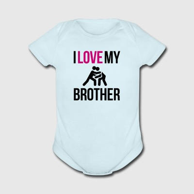 I love my brother - Short Sleeve Baby Bodysuit