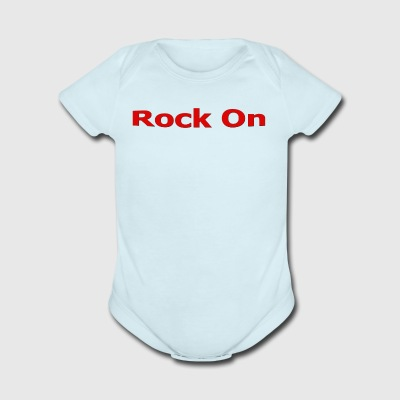 Rock On RED - Short Sleeve Baby Bodysuit