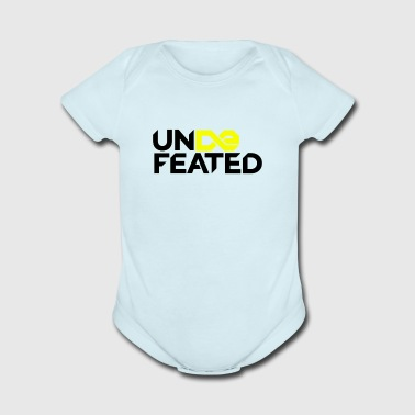 Undefeated (Jesus Fish) - Short Sleeve Baby Bodysuit