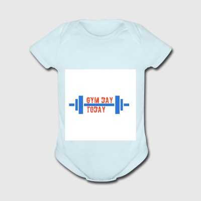 gym_day_today - Short Sleeve Baby Bodysuit