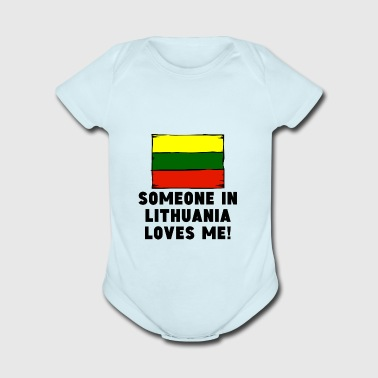 Someone In Lithuania Loves Me! - Short Sleeve Baby Bodysuit