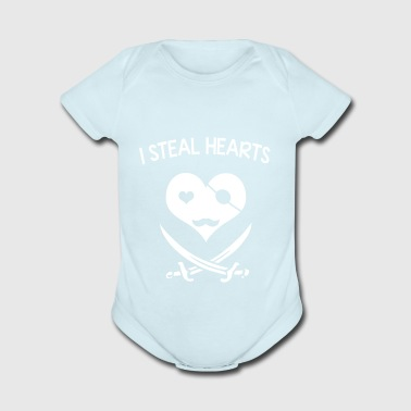 I steal hearts - Short Sleeve Baby Bodysuit