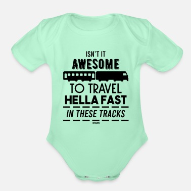Freight Train freight train - Organic Short-Sleeved Baby Bodysuit