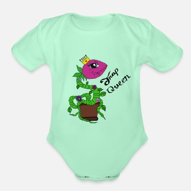 Trap Queen Trap queen - Organic Short-Sleeved Baby Bodysuit