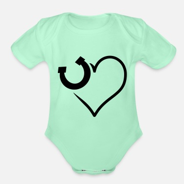 Horseshoe horseshoe - Organic Short-Sleeved Baby Bodysuit