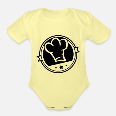 cook_hat_si1 - Organic Short-Sleeved Baby Bodysuit